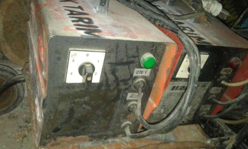 250 turbo fanlı kaynak makinası 2.ci el rengi turuncu