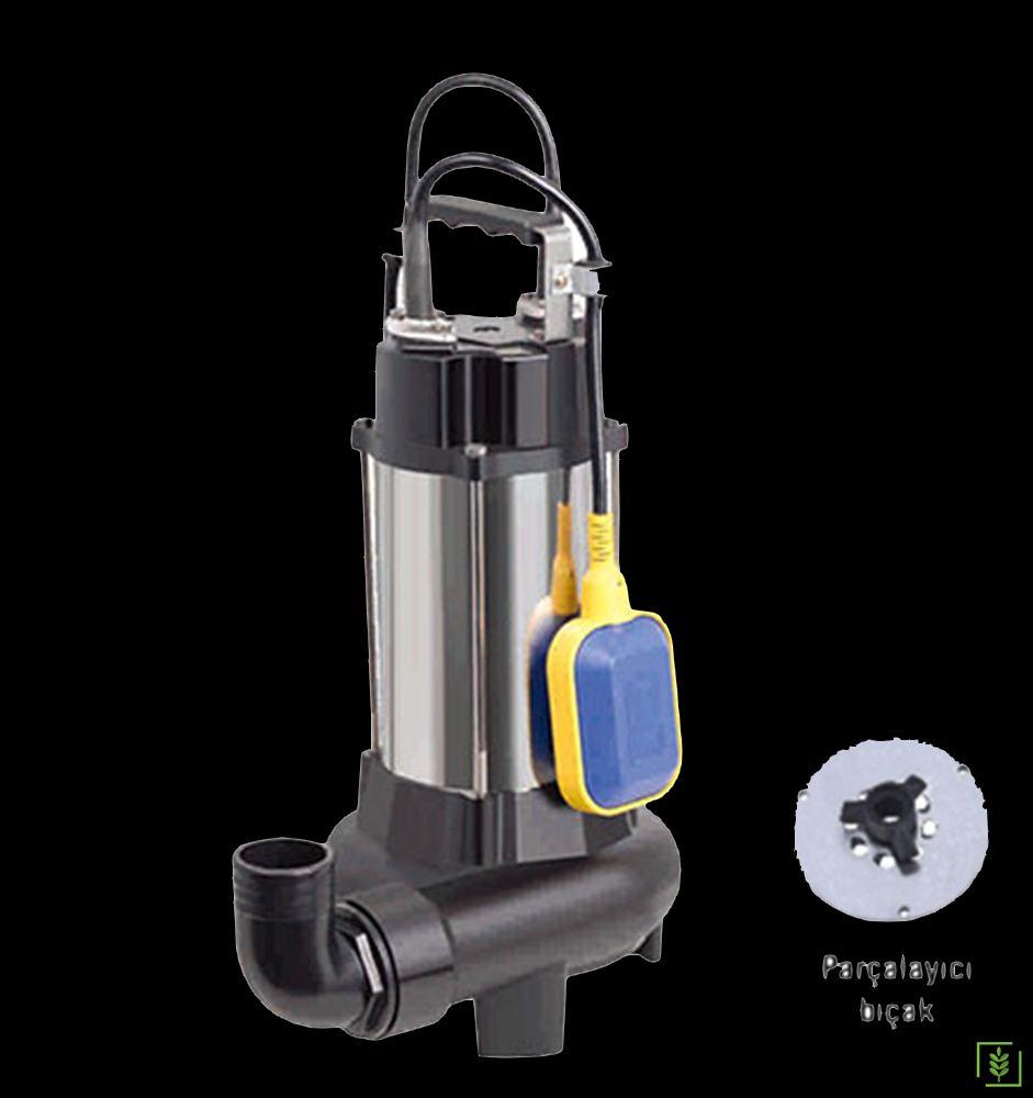 Duffmart V1100DF Pis Su Foseptik Bıçaklı Parçalayıcılı Dalgıç Pompa