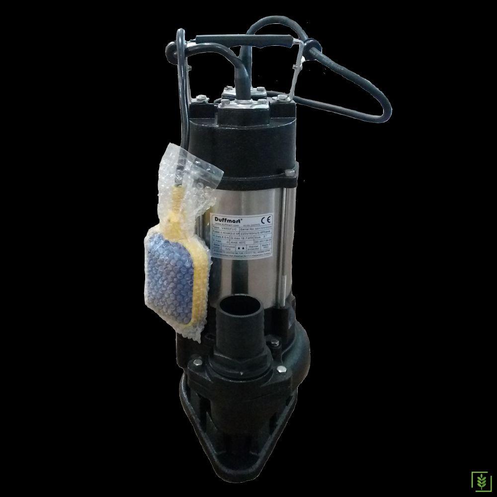 Duffmart V450F-C Pis Su Foseptik Parçalayıcılı Açık Fanlı Dalgıç Pompa