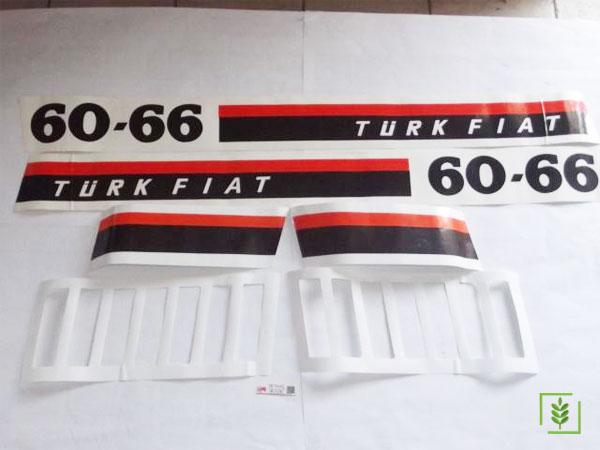 Fıat 60/66 Yan Yazı Takım (Türk Fıat) - (5087769)