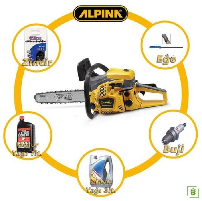 Alpina A410 Benzinli Testere Seti