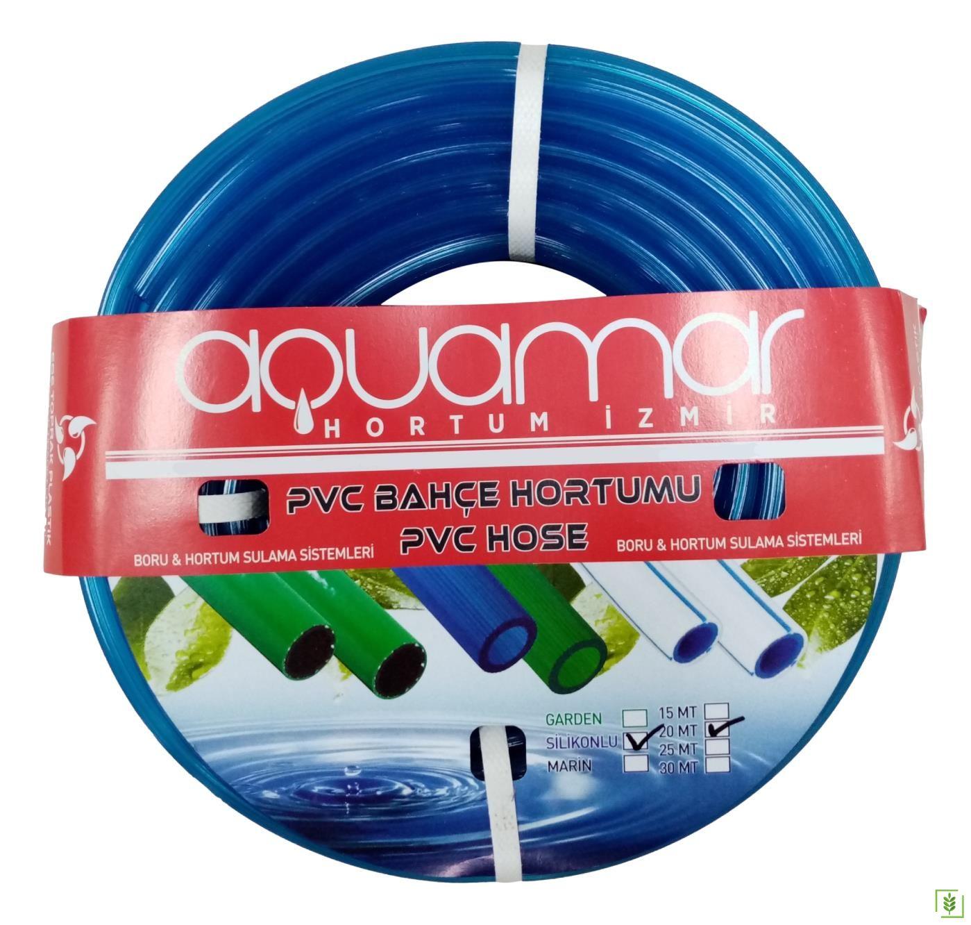 Aquamar Süper Silikonlu Şeffaf Hortum 1/2 15 mt Mavi