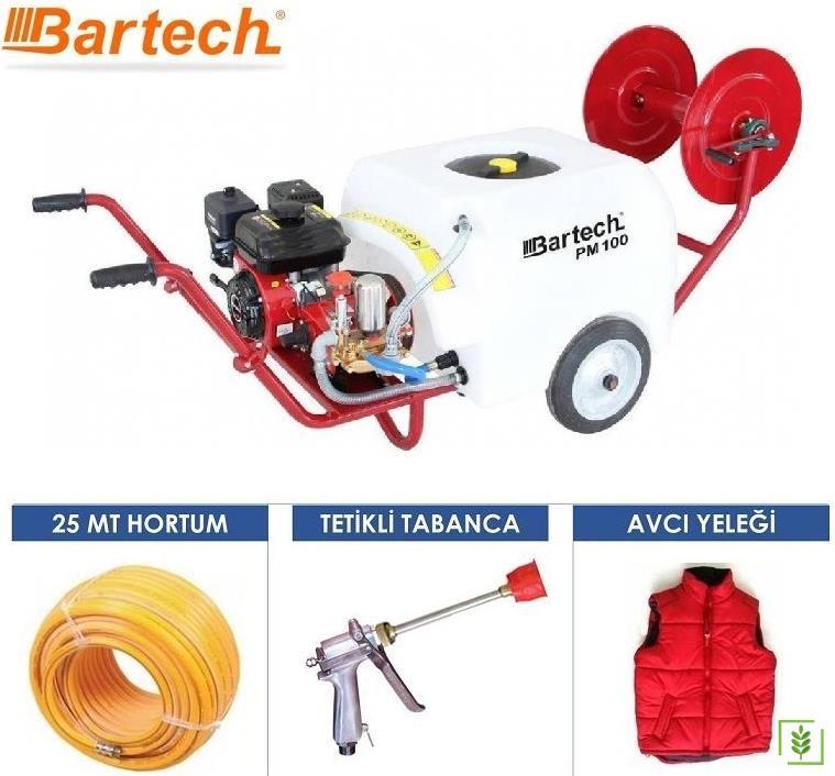Bartech PM100 Benzinli İlaçlama Makinesi Hediyeli