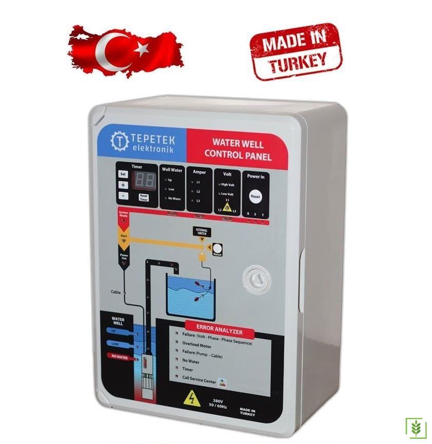 Dalgıç Pompa Elektronik Kontrol Panosu 0,18-1,4 Kw Monofaze