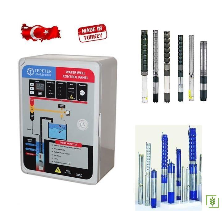 Dalgıç Pompa Elektronik Kontrol Panosu 5-7,5 Kw Trifaze