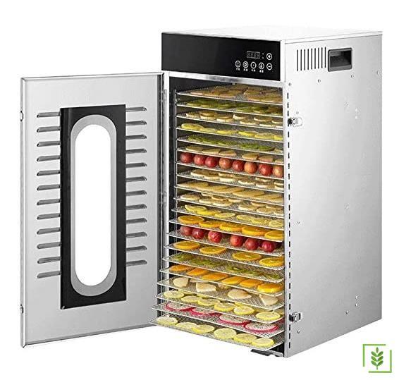 Dalle LT-102 Dijital, Paslanmaz Gıda ve Meyve Kurutma Makinesi 20 Katmanlı