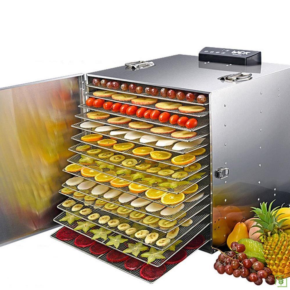 Dalle LT-91 Dijital, Paslanmaz Gıda ve Meyve Kurutma Makinesi 16 Tepsili