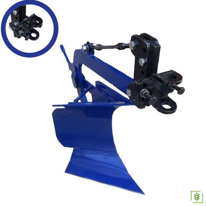 Dönerli Çapa Makinası Pulluğu - Kurt Ağız Bağlantılı Mavi