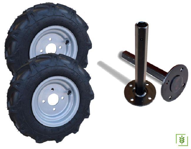 Dublex  Çapa Makinası Teker ve Aks Takımı  32 mm 500x10
