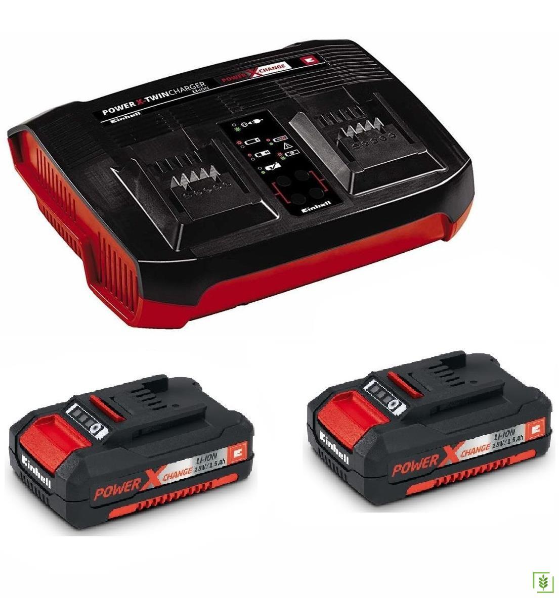 Einhell 2 x 1.5 Ah Akü Twincharger İkili Şarj Cihazi Kiti