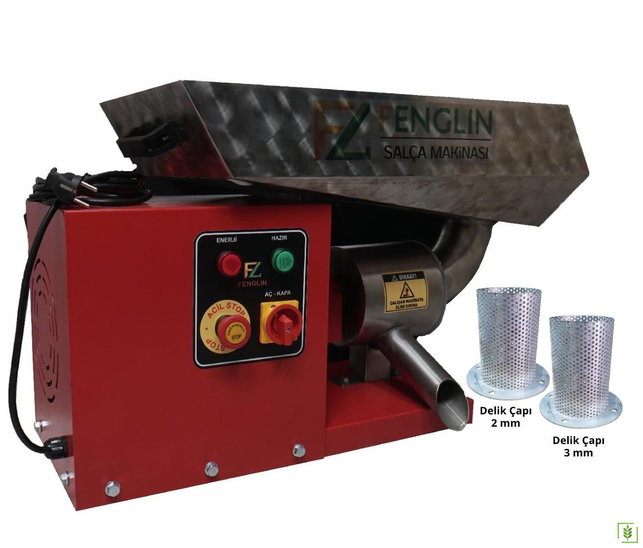 Fenglin FNG-2000 Profesyonel Salça Makinası Çift Elekli