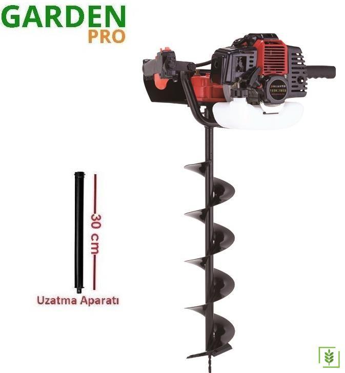 Garden Pro GP-490A Toprak Burgu Makinası 100 mm + 30 cm Uzatma