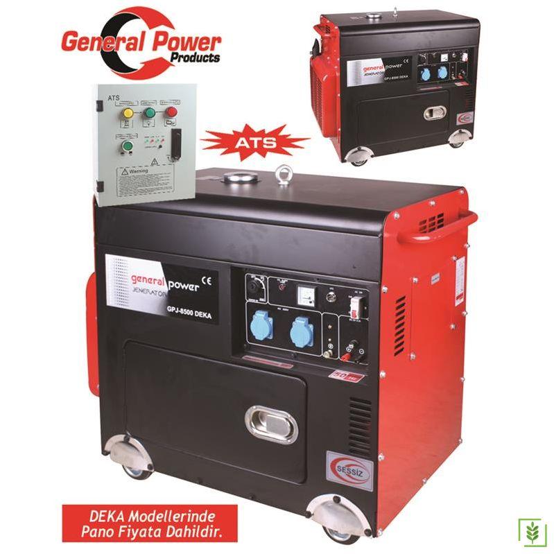 General Power GPJ 8500 DEKA Dizel  Marşlı Jenerator -ATS Pano Hediyeli