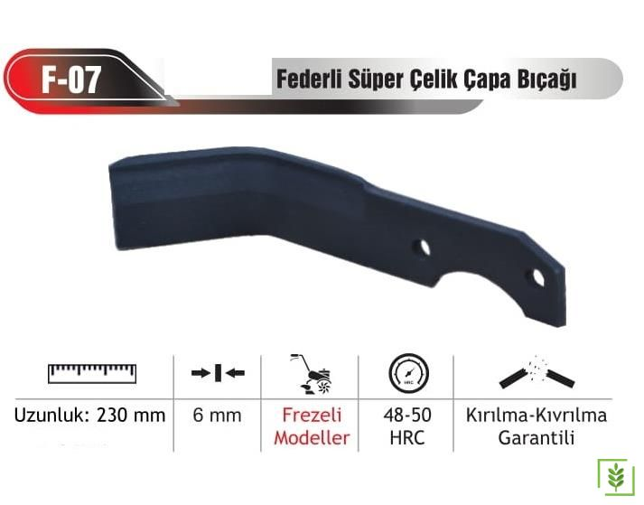 Grillo G 85D,G107D Süper Çelik Çapa Bıçakları (20 Ad)
