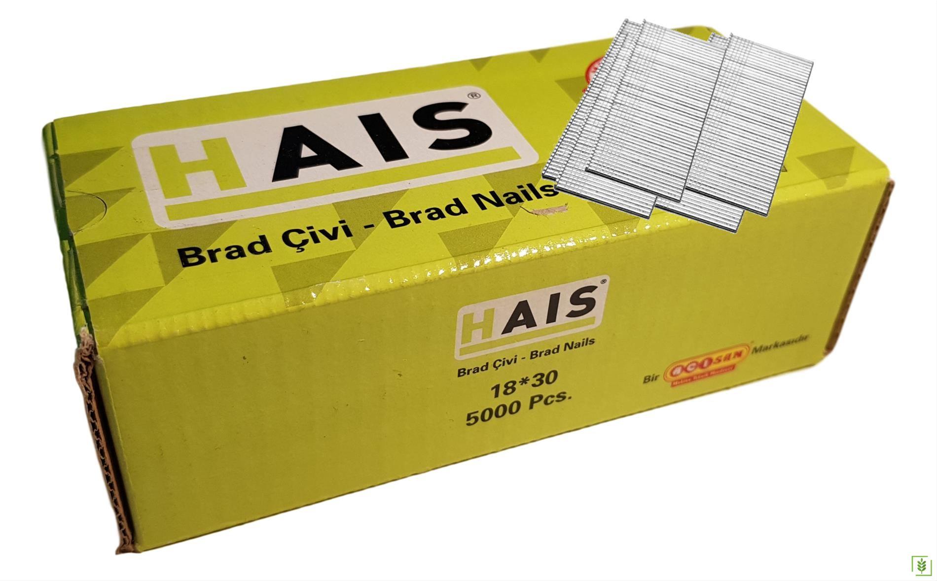Hais F Serisi 18x30 Brad Çivi 1 Kutu