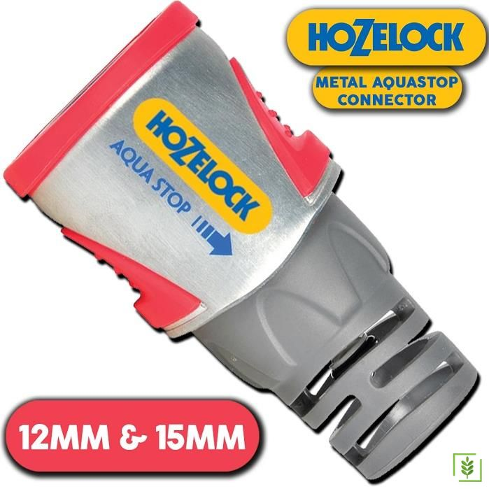 Hozelock 2035H Metal Hortum Bağlantısı Stoplu 1/2