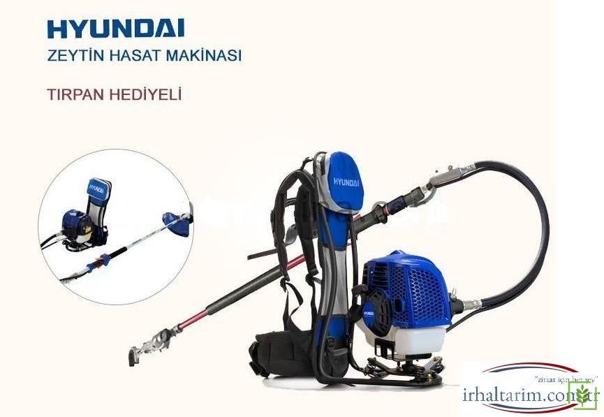 Hyundai HYX52S Motorlu Kadmec Şanzımanlı Zeytin Hasat Makinası + Ot Tırpanı