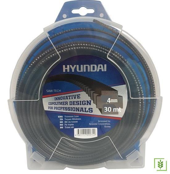 Hyundai Tırpan Misinası Dişli Tırtıklı 4 mm 30 mt