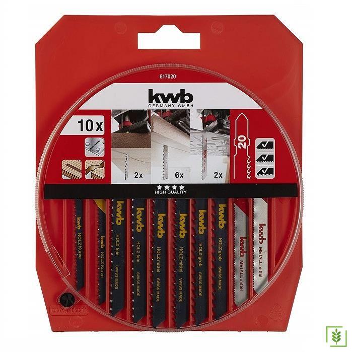 Kwb Dekupaj Testere Bıçak Seti HCS Düz Uçlu 10 Parça