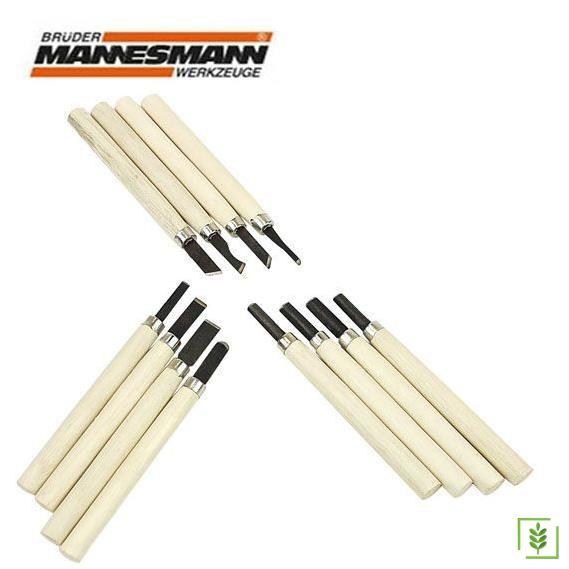 Mannesmann 690-12 Ahşap Oyma Bıçak Seti, 12 Parça