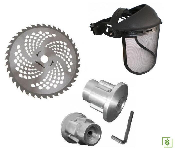 Motorlu Tırpan Aksesuar Set - Elmas Testere+Koruyucu+Örümcek Başlık