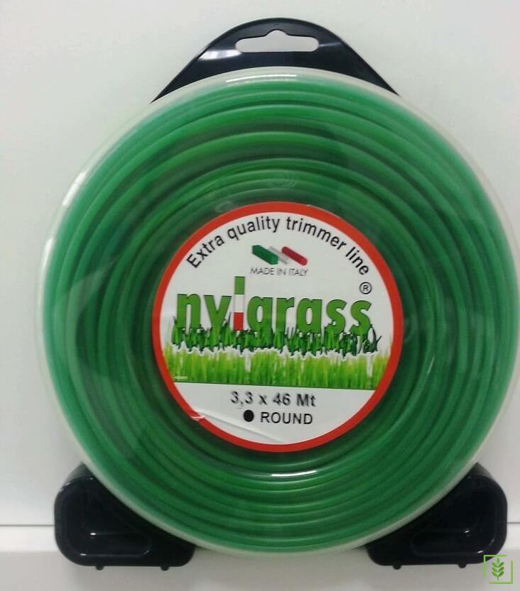 Nylgrass Yeşil Yuvarlak Tırpan Misinası 3.3 mm 46 mt