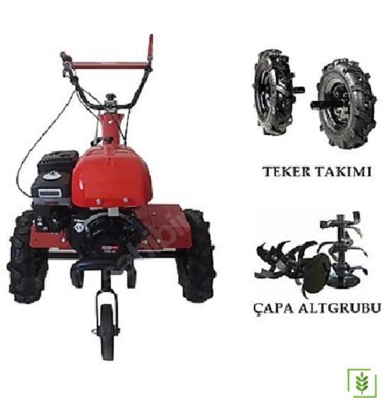 Omega 210 T Benzinli Çapa Makinesi 2+1 Teker Dahil