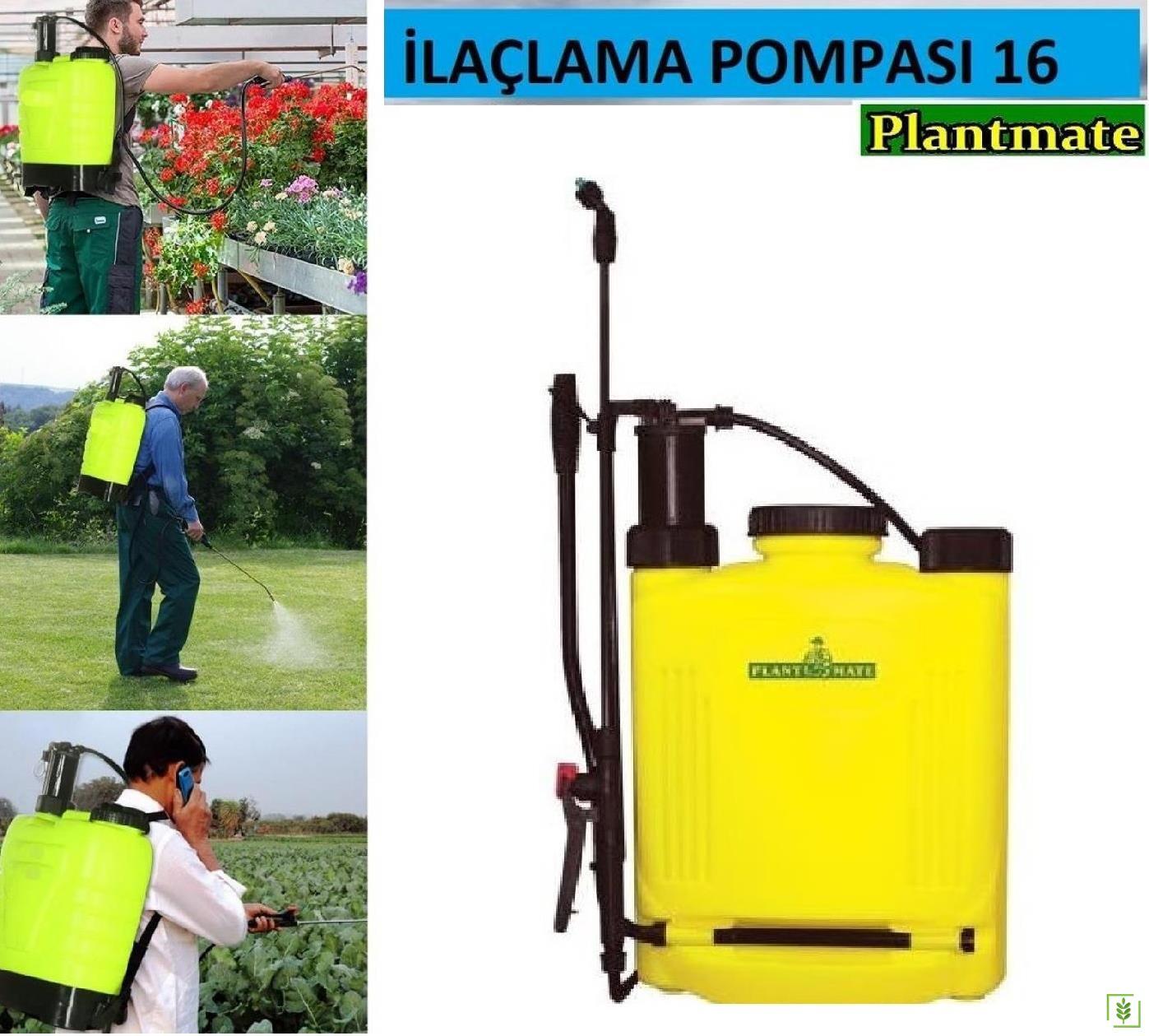 Plant Mate Kollu İlaçlama Pompası Sarı 16 Lt