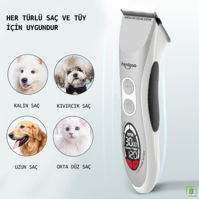 Profesyonel Akülü Şarjlı Veteriner Köpek Kedi Traş Makinesi CAC-868