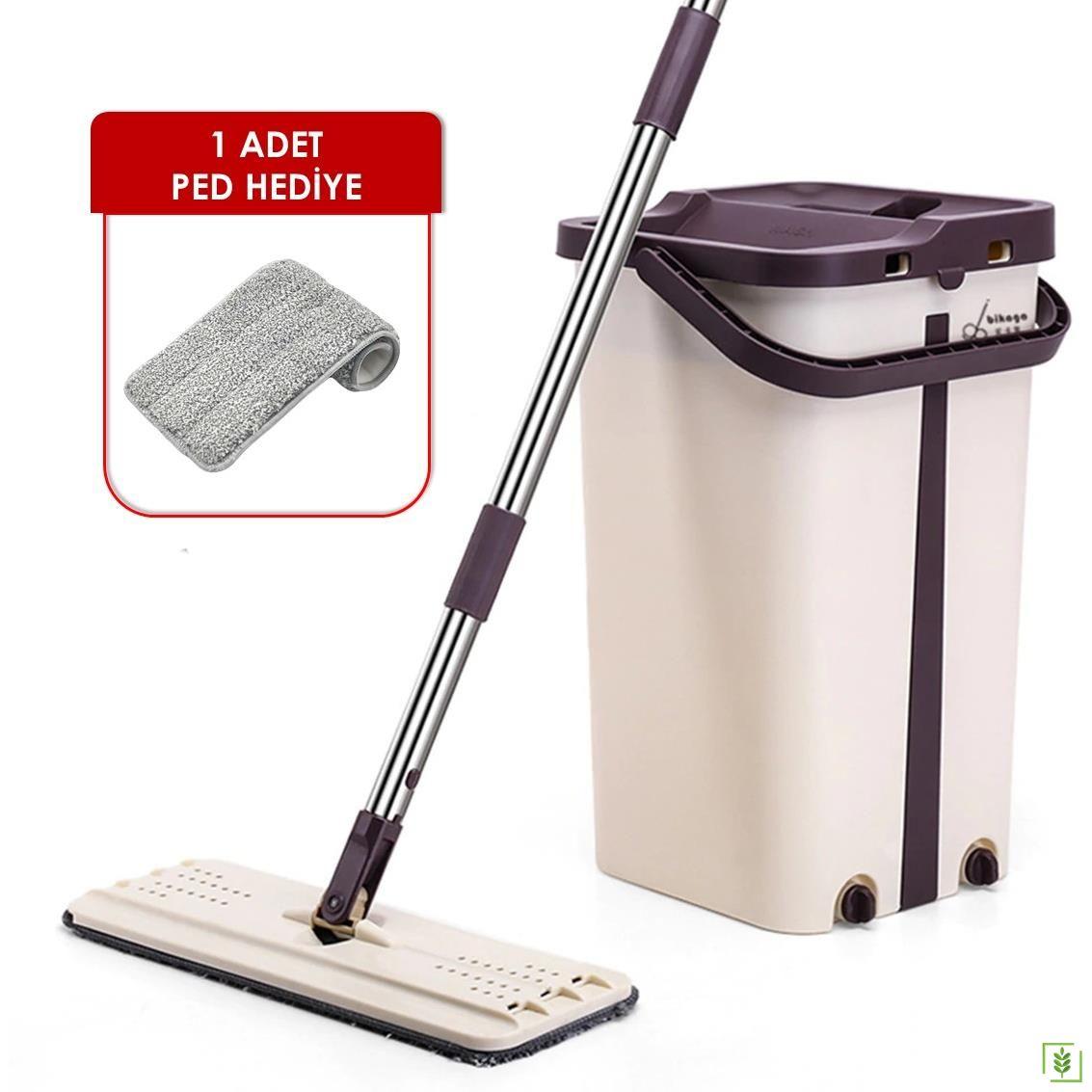 Real Cleaning M600 Kovalı Düz Mop Temizleyici Paspas 1 Pedli