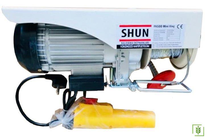 Shun PA500 Elektrikli Mini Vinç Caraskal 250/500 kg