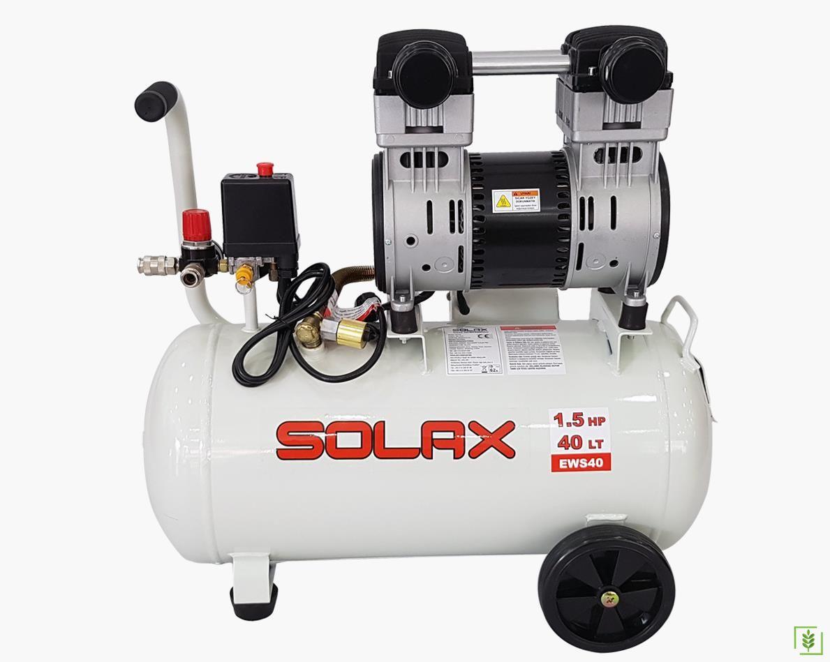 Solax EWS 40 Süper Sessiz Yağsız Kompresör 40 Lt
