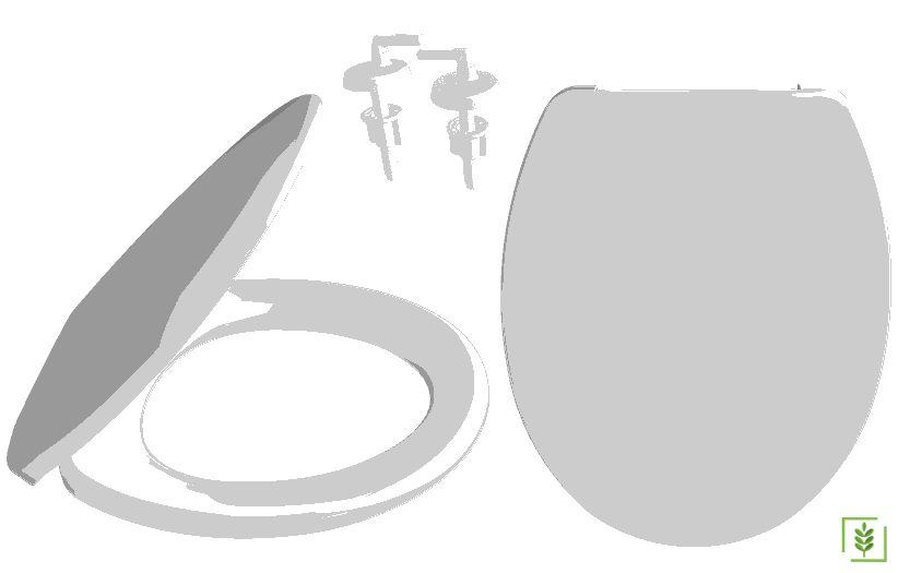 Solo 2080 Standart klozet Kapağı Alttan Sıkmalı Plastik Menteşeli