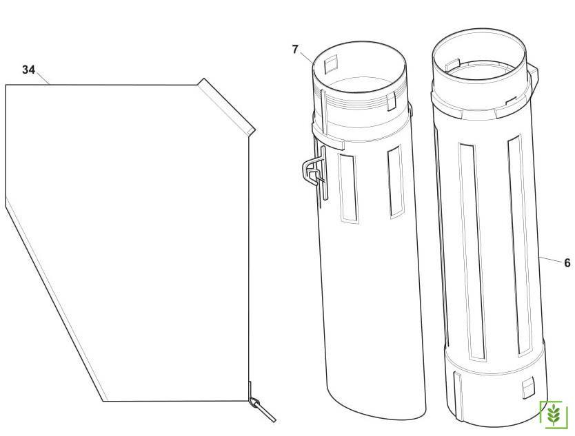 Stiga Sbl 2600 Toplama Üfleme Makinası Emiş Borusu Kiti No - 7