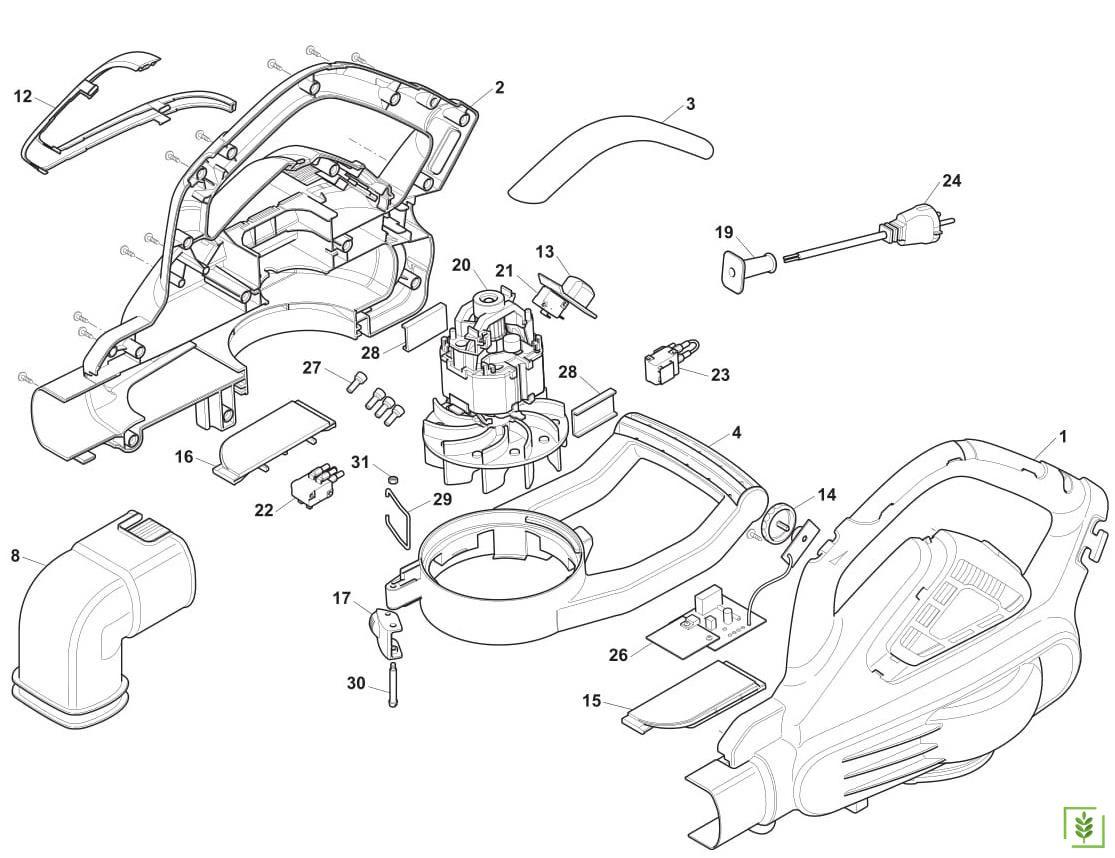 Stiga Sbl 2600 Toplama Üfleme Makinası Yedek Motor No - 20
