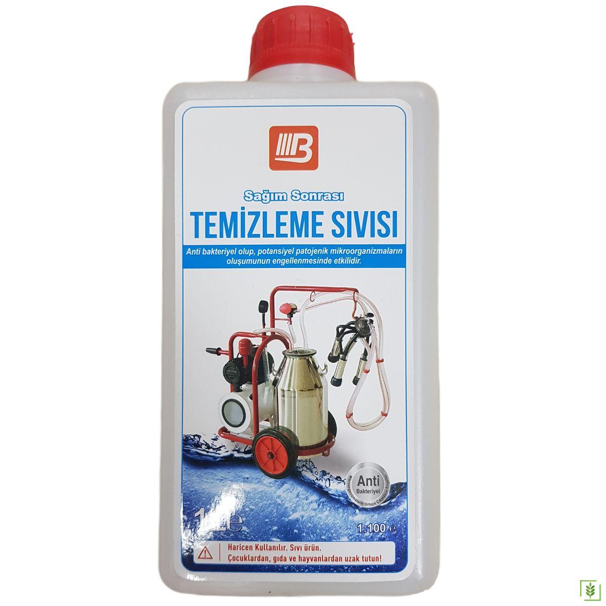 Süt Sağım Makinası Temizlik Dezenfektan Sıvısı 1 lt