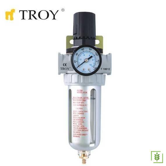 TROY 18614 Şartlandırıcı (Filtre + Regülatör) 1/4(N)PT