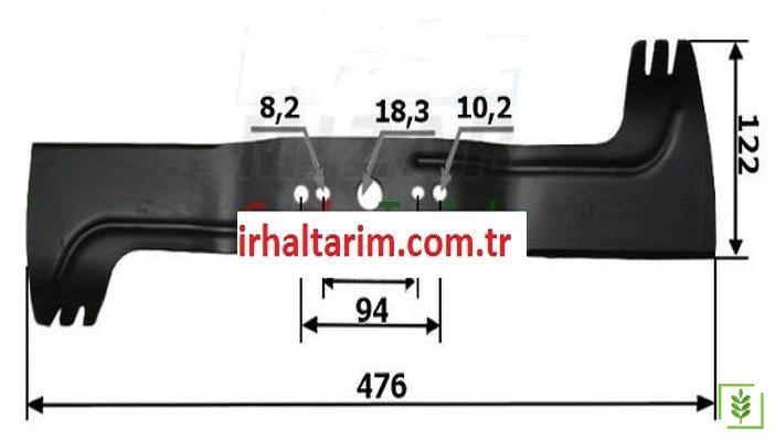Viking Çim Biçme Makina Bıçağı 48 Cm