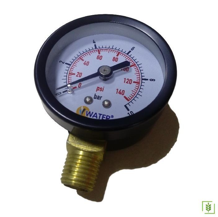 Water Sound Kompresör Basınç Saati - Manometre 50 mm