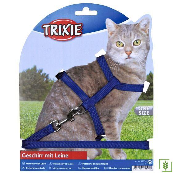 Trixie kedi göğüs tasma seti 22-42cm/10mm Mavi