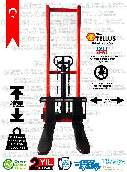 PHM-1516 Manuel İstif Makinası 1.5 Ton 1.6 Mt. Ücretsiz Nakliye onClick=