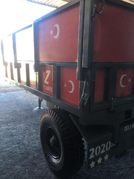 RÖMORK iki tekerli pistonlu makaslı 5 tonluk römork