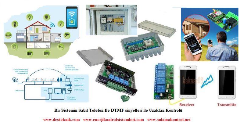 Sabit Telefon  hattı üzerinden DTMF sinyelleri ile Kuyu depo motor AÇ - KAPAT Uzaktan Kontrol