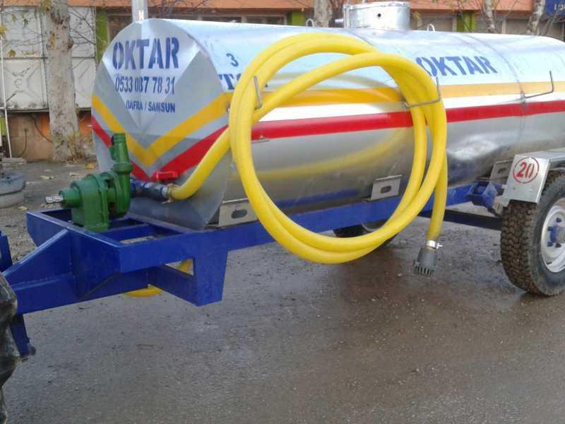 Santrifüjlü Su Tankeri Galvanizli 3 Tonluk Makaslı