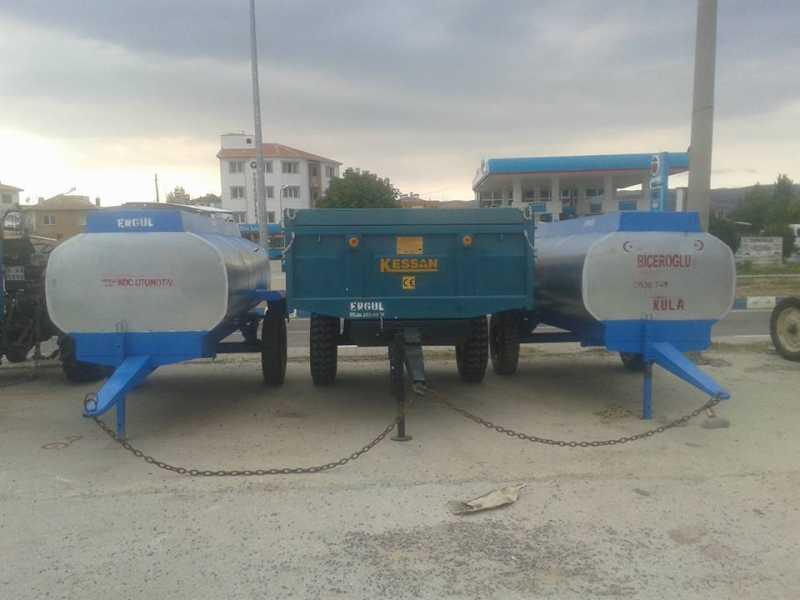sıfır galvaniz 3 tonluk su tankeri