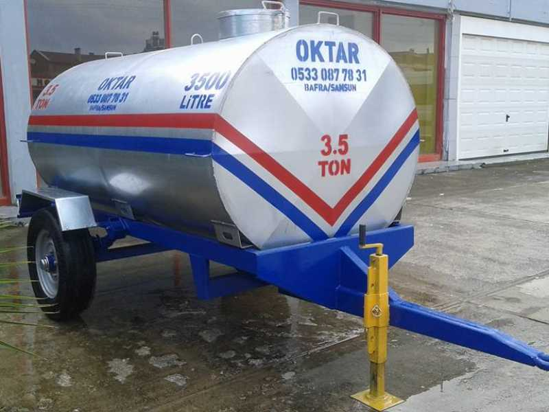Trabzonsporlu Su Tankeri Galvanizli Paslanmaz 3500 Litre