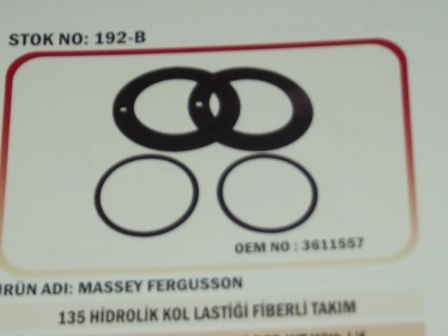 Massey Ferguson 135 Hidrolik Kol Lastik Fiberi Takım  (192-B) - (3611557)