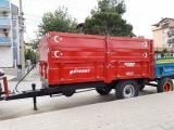 5 TON DAMPERLİ ÇİFT İLAVELİ SIFIR RÖMORK 350X200 EBATLI