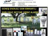 ARI KOVAN PETEK GSM ALARMI SİM KART GÜNEŞ ENERJİLİ 02322451352