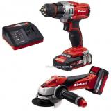 Einhell TE-TK 18 Li (CD + AG) Power X-Change Makineleri Seti